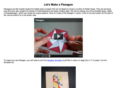Screenshot of Let's Make a Flexagon