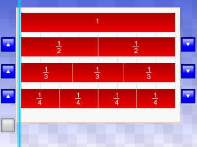 Screenshot of Fraction Chart - TeacherLED