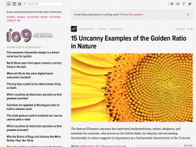 Screenshot of 15 Uncanny Examples of the Golden Ratio in Nature