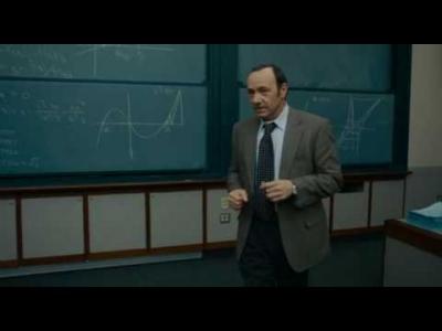 "Screenshot of ""21"" explains the Monty Hall problem"