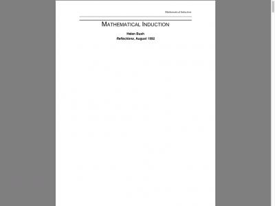 Screenshot of Mathematical Induction, Helen Bush