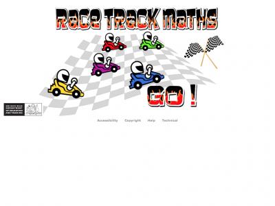 Screenshot of Race Track Maths