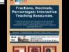 Screenshot of Fractions, Decimals, Percentages: Interactive Teaching Resources.
