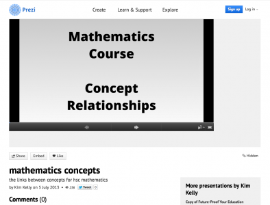 Screenshot of HSC Mathematics Concepts
