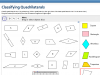 Screenshot of Classifying Quadrilaterals by colouring