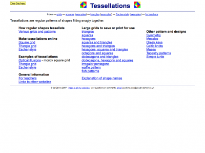 Screenshot of Tessellations