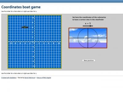 Screenshot of Coordinates boat game