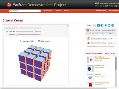 Screenshot of Cube of Cubes