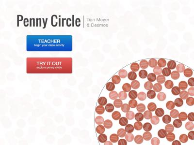 Screenshot of Penny Circle | A Dan Meyer Three Act