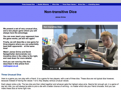 Screenshot of Non-transitive Dice