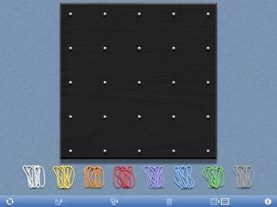 Screenshot of Geoboard, by The Math Learning Centre (web)