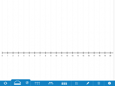 Screenshot of Number Line, by The Math Learning Centre (web)