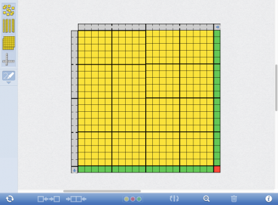 Screenshot of Number Pieces, by The Math Learning Centre (web)