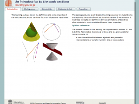 Screenshot of An introduction to the conic sections