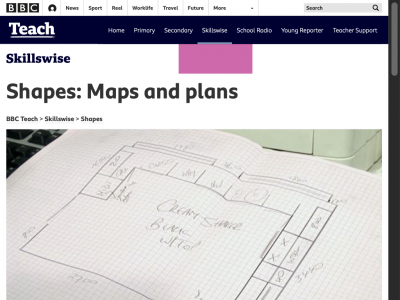 Screenshot of Maps and plans