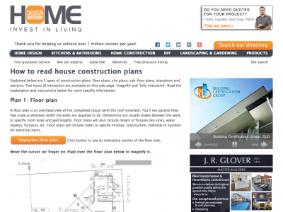 Screenshot of How to read house construction plans