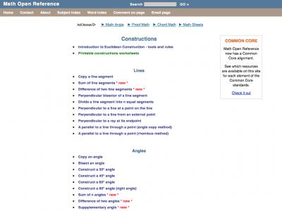 Screenshot of Constructions