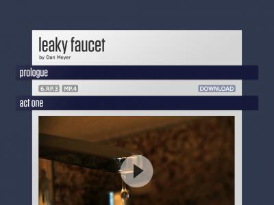 Screenshot of Leaky Faucet by Dan Meyer