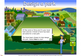 Screenshot of Design a park