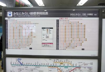 Screenshot of Japanese train time table