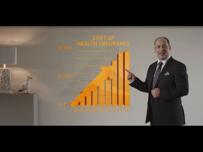 Screenshot of Displaced Axis example, TV Ad