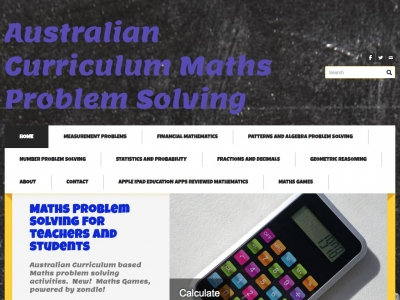 Screenshot of Mathematics Problem Solving
