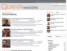 Screenshot of 2014 Fields Medal