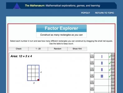 Screenshot of Factor Explorer