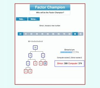 Screenshot of Factor Champion