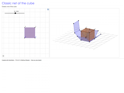 Screenshot of Classic net of the cube