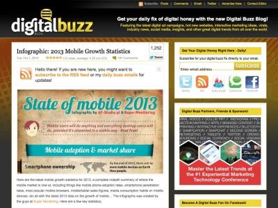 Screenshot of Mobile Growth Statistics (2013)