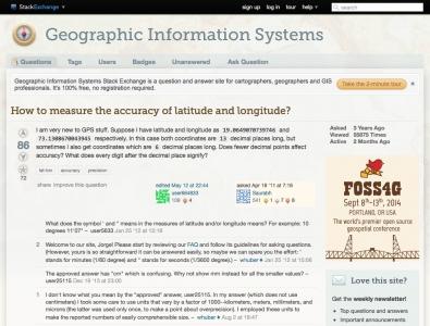 Screenshot of How to measure the accuracy of latitude and longitude?