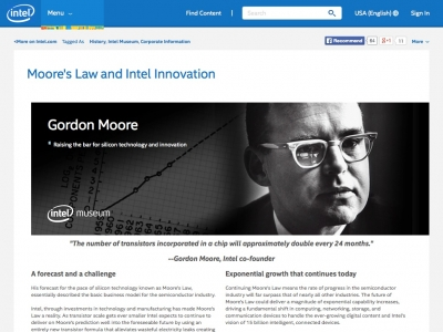 Screenshot of Moore's Law