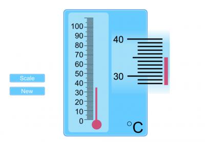 Screenshot of Reading Scales: Temperature