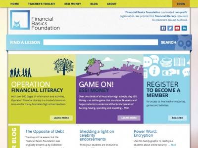Screenshot of Financial Basics Foundation