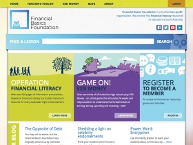 Screenshot of Financial Basics Foundation