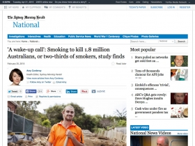 Screenshot of 'A wake-up call': Smoking to kill 1.8 million Australians, or two-thirds of smokers, study finds