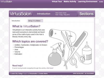 Screenshot of VirtualSalon