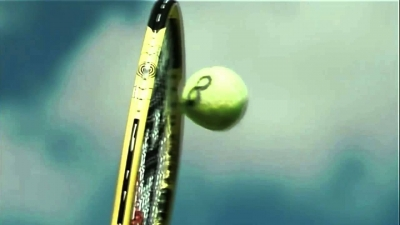 Screenshot of Tennis serve in slow motion
