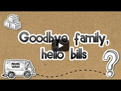 Screenshot of Goodbye family, hello bills