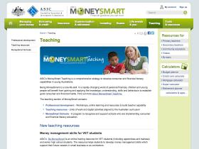 Screenshot of MoneySmart Teaching