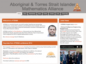 Screenshot of Aboriginal & Torres Strait Islander Mathematics Alliance