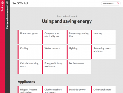 Screenshot of Calculate your appliance running costs