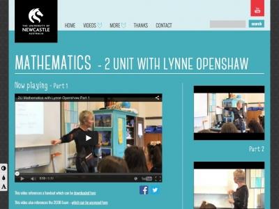 Screenshot of Mathematics - 2 Unit with Lynne Openshaw
