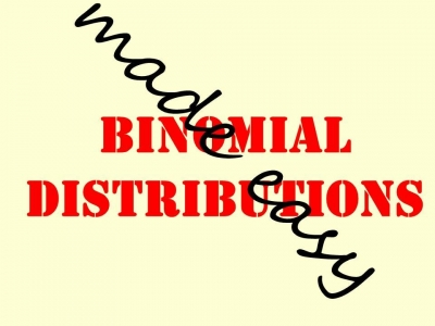 Screenshot of Binomial distributions made easy