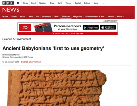 Screenshot of Ancient Babylonians 'first to use geometry'