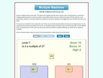 Screenshot of Multiple Madness