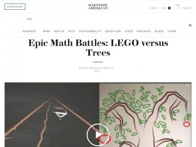 Screenshot of Epic Math Battles: LEGO versus Trees