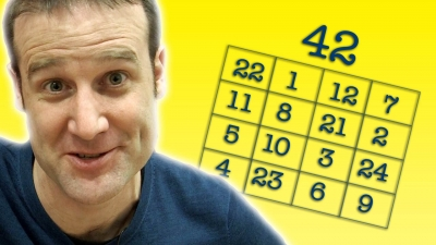 Screenshot of Magic Square Party Trick - Numberphile