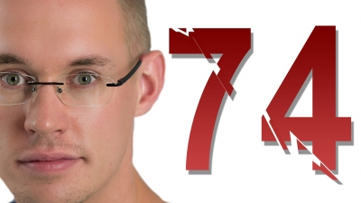 Screenshot of 74 is cracked - Numberphile